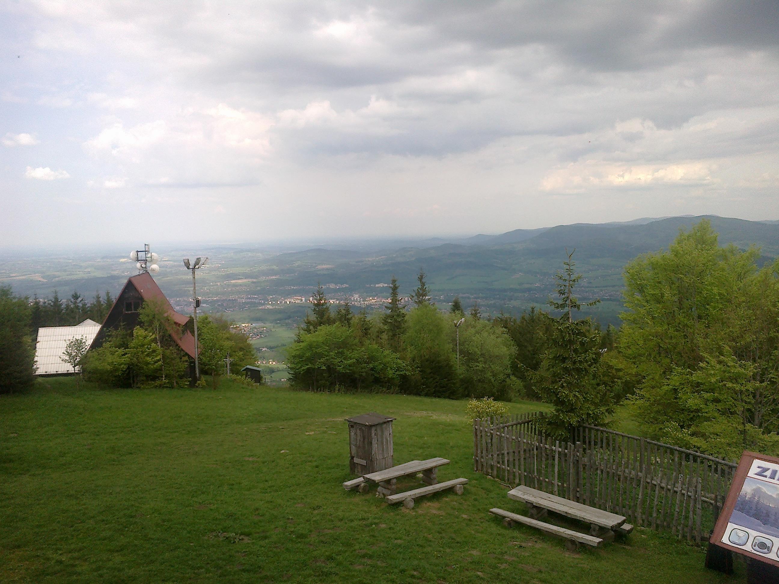 Pohled z chaty na Javorovém